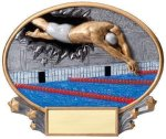 Motion X Oval -Swimming Male  Resin Trophies