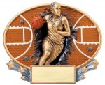 Motion X Oval  Basketball Resin Trophies