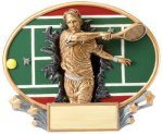 Motion X Oval -Tennis Male Resin Trophies