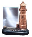 Resin Light House With Glass Resin Trophies