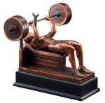 Bench Press Resin Trophies