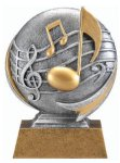 Motion X 3-D -Music Resin Trophies