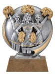 Motion X 3-D -Cheerleader Female Resin Trophies