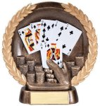Resin Plate -Poker Hand Resin Trophies