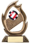 Flame Series -Volleyball Resin Trophies