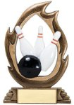 Flame Series -Bowling Resin Trophies