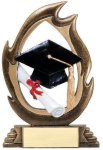 Flame Series -Graduation Resin Trophies
