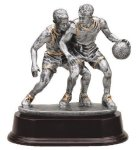 Basketball Double Action Resin Trophies