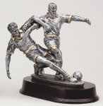 Soccer Double Action Resin Trophies