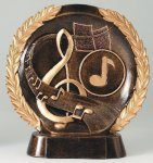 Resin Plate -Music Resin Trophies