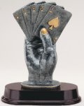 Hand Of Cards Resin Trophies