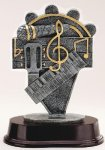 Music Note Resin Trophies