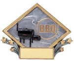 Resin Diamond Plate -BBQ Resin Trophies