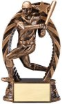 Antique Bronze and Gold Softball, Female  Award Resin Trophies