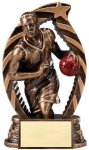 Antique Bronze and Gold Basketball, Male  Award Resin Trophies
