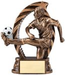 Bronze and Gold Award -Soccer Male  Resin Trophies