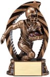 Antique Bronze and Gold Award -Football Resin Trophies