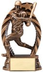 Antique Bronze  and Gold Baseball Male Award Resin Trophies