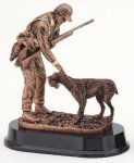 Hunter With Dog Resin Trophies