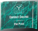 Green Marbleized Acrylic Crescent  Sales Awards