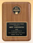 American Walnut Plaque with Medallion Sales Awards