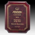 Piano Finish Clipped Corner Plaque Sales Awards