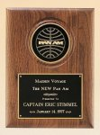 American Walnut Plaque with 4 Engravable Disk Sales Awards