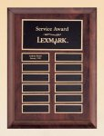 Cherry Finish Wood Perpetual Plaque Sales Awards