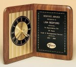 American Walnut Book Clock Sales Awards