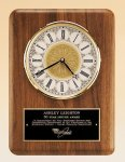 American Walnut Vertical Wall Clock. Sales Awards