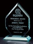 3/4 Thick Polished Diamond Acrylic Award Sales Awards