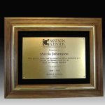 Walnut Frame Plaque Sales Awards