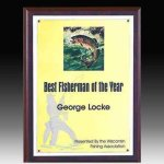 Plaque with Color Image Plate Sales Awards