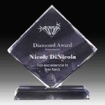 Diamond Shape Crystal Sales Awards