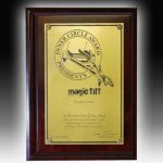 Dark Cherry Wide Edge Plaque Sales Awards