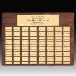 Solid Walnut Perpetual Plaque Sales Awards
