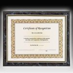 Gold Frame Certificate Plaque Sales Awards