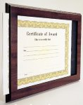 Cherry Finish Slide-in Certificate Plaque Sales Awards