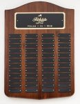Genuine Walnut Perpetual Plaques Sales Awards