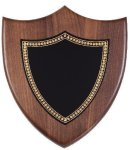 Walnut Corporate Shield Plaque Sales Awards