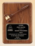 American Walnut Plaque with Walnut Gavel Secretary Gifts