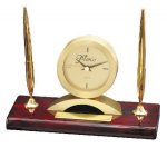 Double Pen Set With Clock Secretary Gifts