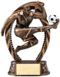 Bronze and Gold Soccer, Male Award Soccer Trophies
