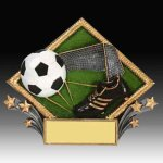 Soccer Diamond Resin Soccer Trophies Awards