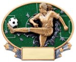 Motion X Oval -Soccer Female Soccer Trophies Awards