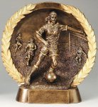 Resin Plate -Soccer Female Soccer Trophies Awards