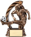 Bronze and Gold Soccer,  Female Award Soccer Trophies Awards