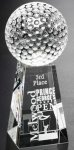Tapered Golf Award Sport Crystal