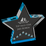Blue Star Performance Acrylic Star Acrylic Award Trophy