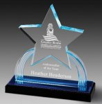 Impress Reflection Acrylic Award Star Acrylic Award Trophy